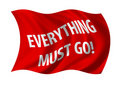 Everything must go sale flag Stock Image