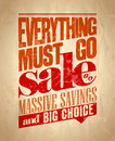 Everything must go sale retro poster eps Stock Photo
