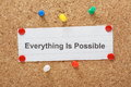 Everything Is Possible Royalty Free Stock Photo