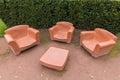 EVIAN-LES-BAINS, FRANCE/EUROPE - SEPTEMBER 15: Earthernware street furniture in Evian-les-Bains France on September 15, 2015 Royalty Free Stock Photo