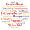 Evidence based medicine word collage concept vector illustration Stock Photos
