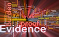 Evidence proof background concept glowing Royalty Free Stock Image