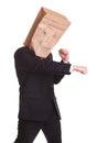 Evil agressive business man Royalty Free Stock Photo