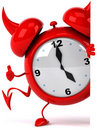 Evil alarm clock Royalty Free Stock Photo