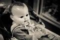 Evil Baby Doll Royalty Free Stock Photo