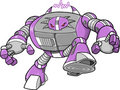 Evil Big Robotic Warrior Vector Royalty Free Stock Photography