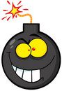 Evil bomb character Royalty Free Stock Photography