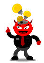 Evil businessman illustration graphic cartoon character of devil Royalty Free Stock Images