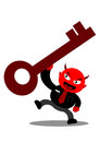 Evil businessman illustration graphic cartoon character of devil Stock Images