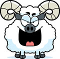 Evil cartoon ram a illustration of an looking Royalty Free Stock Images