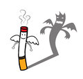 Evil cigarette character Royalty Free Stock Images