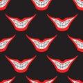 Evil clown or card joker smile seamless pattern Royalty Free Stock Photo