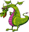 Evil dragon cartoon Stock Image