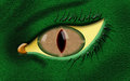 Evil dragon eye with green skin color