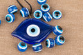 Evil eye bead. Royalty Free Stock Photo