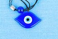Evil eye bead stock image macro Stock Images