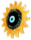 Evil eye on sun Royalty Free Stock Photos