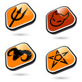 Evil Icons Royalty Free Stock Photography