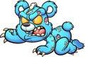 Evil crawling cartoon Teddy bear. Royalty Free Stock Photo