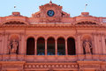 Evita peron balcony the at the casa rosada in buenos aires Stock Image