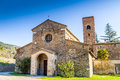 Evocative religiosity of a romanesque church the style st john at the eighth also known as tho in northern italy offers magical Royalty Free Stock Images