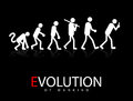Evolution abstract vector illustration of the theory to smartphone addicts Royalty Free Stock Photo