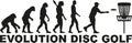 Evolution disc golf Royalty Free Stock Photo
