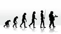 Evolution funny illustration of human Stock Photo