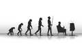 Evolution human ending with sitting in front of tv Royalty Free Stock Images