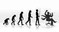 Evolution human ending with stress at work Stock Images