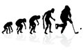 Evolution of the Ice Hockey Player. Royalty Free Stock Photo
