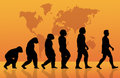 Evolution an illustration of human Stock Photos