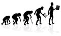 Evolution of man and technology illustration depicting the in silhouette Royalty Free Stock Image