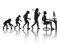 Evolution programmer vector silhouette of the of a profession of the future Stock Photo