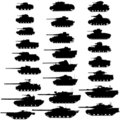 Evolution of the tank.Detailed vector illustration Royalty Free Stock Photo