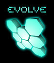 Evolve emblem creative design of Stock Photos