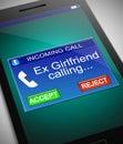 Ex girlfriend calling. Royalty Free Stock Photo