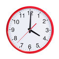 Exactly four on round clock face red Stock Images