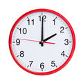 Exactly two on round clock face red Stock Photography