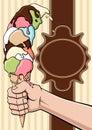 Exaggerated ice cream Royalty Free Stock Photo