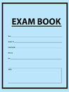 Exam blue book examination for exams in cover vector illustration Stock Photos