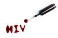 Examination hiv blood and syringe Royalty Free Stock Photos