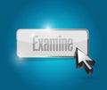 Examine button illustration design