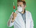 Examing blodprövkopia för doktor Royaltyfria Bilder