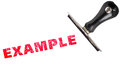 example stamp text Royalty Free Stock Photo