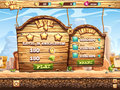 Example of window complete the level and receive awards for playing wild west game Stock Photo
