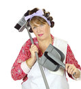 Exasperated Housewife Stock Photography