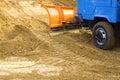 Excavating works Stock Photo