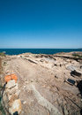 The excavation of ancient tombs on the black sea in bulgaria sozopol bulgarian seaside town famous discoveries slavic settlements Royalty Free Stock Photos