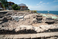 The excavation of ancient tombs in sozopol in bulgaria bulgarian seaside town famous discoveries slavic settlements located on Stock Image